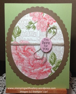 Stippled Blossoms Dictionary card