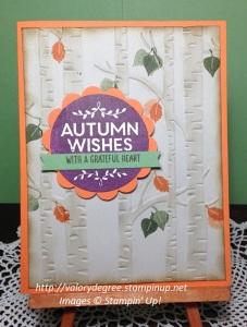 Autumn Birch Card