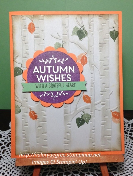 Autumn Birch Card