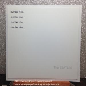 White Album card
