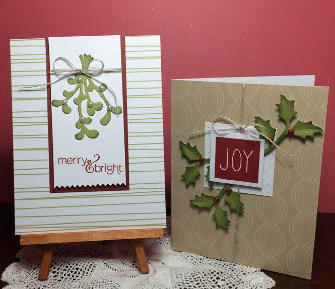 Mistletoe and Holly cards