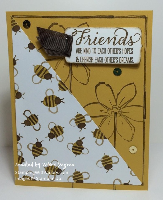English Garden Bees Card